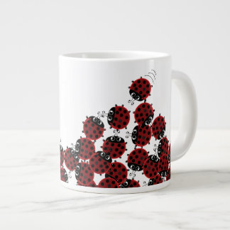 La Coccinelle - a crowded place in white? Large Coffee Mug