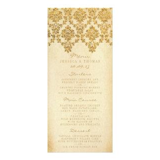 La collection fascinante vintage de mariage double carte personnalisée