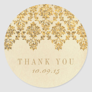 La collection fascinante vintage de mariage sticker rond