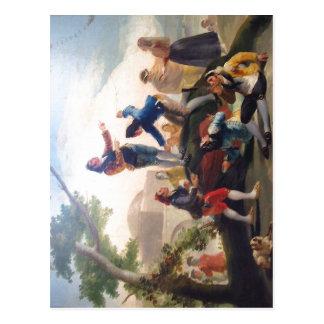 La cometa (1778). Pintor Goya. Autor de imagen: Al Postcard