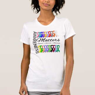 La conscience importe des rubans de Cancer Tee-shirts