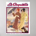 La Coquette Umbrella Girl Poster