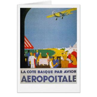 La Cote Basque Par Avion Card