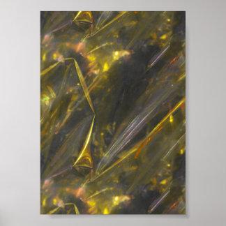 La couleur brillante d'or plie le motif de texture affiches