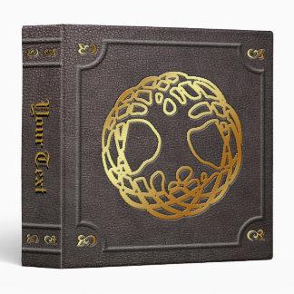La coutume a doré le livre d'arbre du monde du cla
