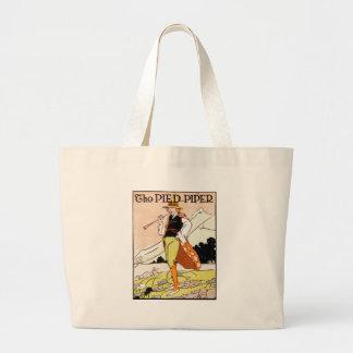 La crèche des enfants pies de joueur de pipeau sac en toile jumbo