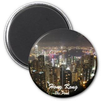 La crête, aimant de paysage de nuit de Hong Kong