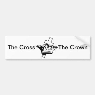 La croix et la couronne autocollant de voiture