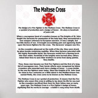 La croix maltaise affiche