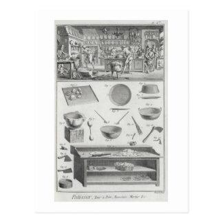 La cuisine et l'équipement d'un boulanger, du cartes postales