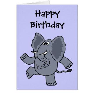 La CY éléphant drôle de danse Carte De Vœux