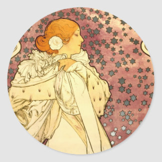 La Dame Bernhardt Classic Round Sticker