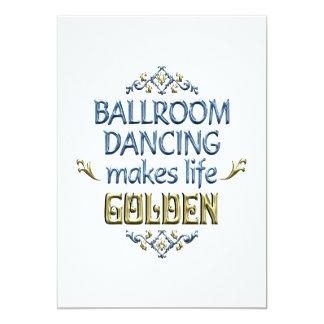 La danse de salon est d'or carton d'invitation  12,7 cm x 17,78 cm