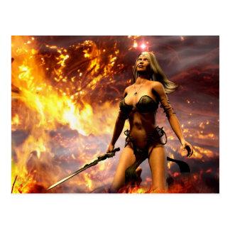 la déesse du feu carte postale
