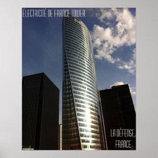 La Défense, France – Électricité de France Tower Poster