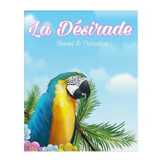 La Désirade Parrot travel poster Acrylic Print