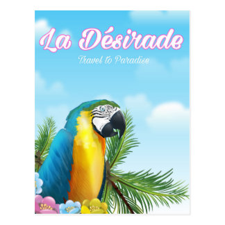 La Désirade Parrot travel poster Postcard