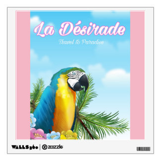 La Désirade Parrot travel poster Wall Sticker