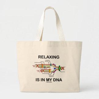 La détente est en mon ADN la reproduction d ADN Sac En Toile
