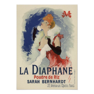 La Diaphane by Jules Chéret Poster