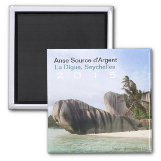 La Digue, Seychelles Beach Magnet Travel Souvenir