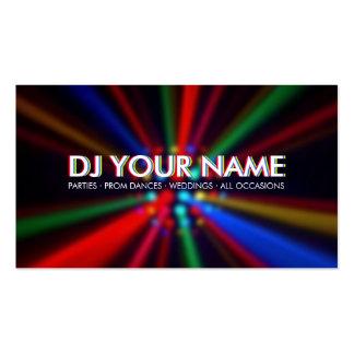 La disco du DJ rayonne le carte de visite de lumiè