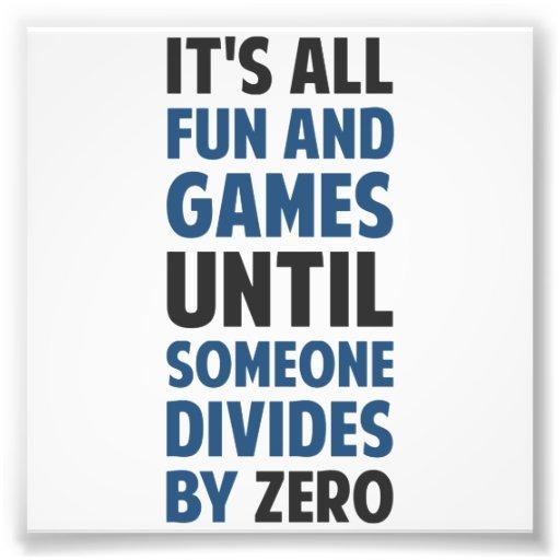 La division par zéro n'est pas un jeu photo