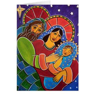 La famille sainte avant janvier Oliver Carte De Vœux