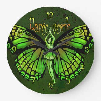 La Fee Verte Wings Outspread Large Clock