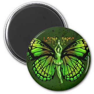 La Fee Verte With Wings Outspread 2 Inch Round Magnet