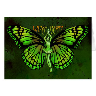 La Fee Verte With Wings Outspread Card