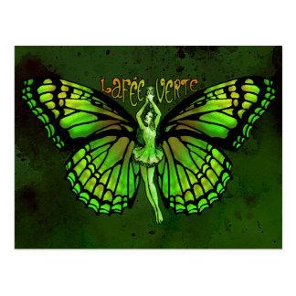 La Fee Verte With Wings Outspread Postcard