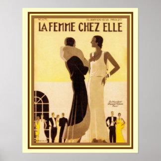 La Femme Chez Elle French Deco Cover 16x20 Poster