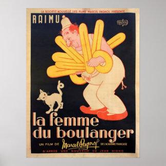 La Femme Du Boulanger Affiche