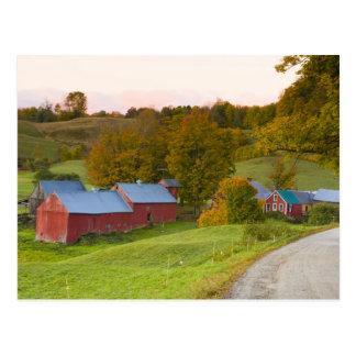 La ferme de Jenne dans Woodstock, Vermont. Chute Carte Postale