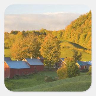 La ferme de Jenne dans Woodstock, Vermont. Chute. Sticker Carré