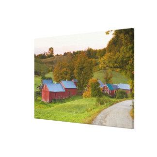 La ferme de Jenne dans Woodstock, Vermont. Chute Impressions Sur Toile