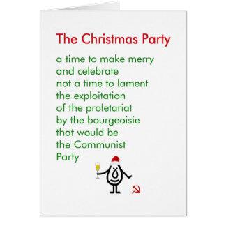 La fête de Noël - un poème drôle de Noël Carte De Vœux