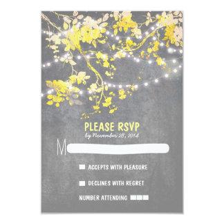 La ficelle allume les cartes les épousant carton d'invitation 8,89 cm x 12,70 cm