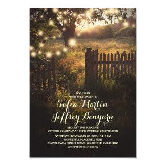 la ficelle allume l'invitation rustique de mariage carton d'invitation  12,7 cm x 17,78 cm