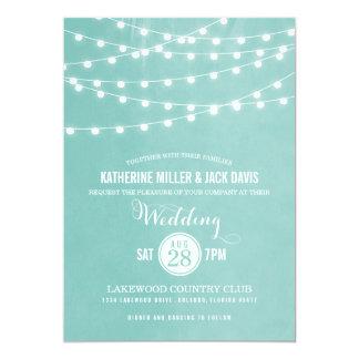 La ficelle d'été allume le faire-part de mariage carton d'invitation  12,7 cm x 17,78 cm