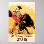La fiesta De Toros In Espagne Poster