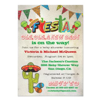 La fiesta mexicaine couple l'invitation de baby carton d'invitation  12,7 cm x 17,78 cm