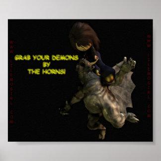 La fille de Lil Emo, saisissent vos démons par les Poster