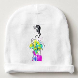 La Fleur Fashion Illustration Baby Beanie