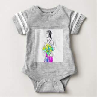 La Fleur Fashion Illustration Baby Bodysuit