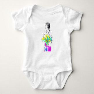 La Fleur Fashion Illustration Baby Bodysuit