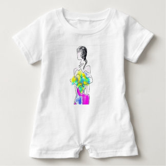 La Fleur Fashion Illustration Baby Romper