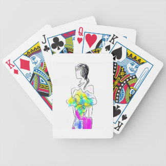 La Fleur Fashion Illustration Bicycle Playing Cards
