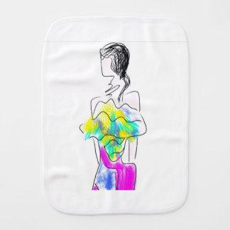 La Fleur Fashion Illustration Burp Cloth